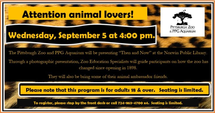 pittsburgh zoo presents then and now norwin public library